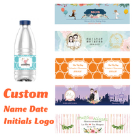 Personalized wedding logo Bottle Water Labels bottle Stickers Wrappers Birthday baby shower Anniversary Wedding Decoration