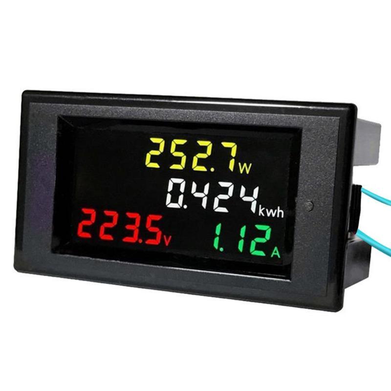 AC 80-300V 100A LCD Digital Multimeter Panel Colorful Display Voltmeter Ammeter Power Energy Voltage Current Measurement New