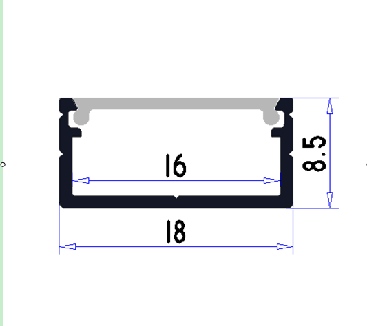 Darmowa Wysyłka 2 m / sztuk 30 sztuk / partia Hot Sprzedam profil - Oświetlenie LED - Zdjęcie 3