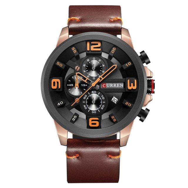 CURREN Top Brand Quartz Watch Men Sport Fashion Casual WristWatches Leather Stra