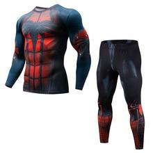 MMA rashguard Herren Fitness-Multifunktions-Fitness-T-Shirt Anzug 3D-Druck Herrenhose schnell trocknendes Rashgard-T-Shir