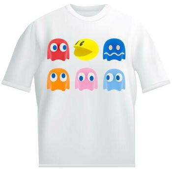 81a4f06758b0a Pac Man/детская белая футболка для мальчиков и девочек, аркадная игра,  призрак