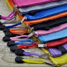 Waterproof  Zip Bag Plastic Document Pen Filing Products Pocket Folder Wallet Office School B4 A4 Size