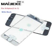 MAIJIEKE למעלה AAA + קר עיתונות 3 ב 1 מסך קדמי זכוכית עם מסגרת OCA עבור iphone 8 7 בתוספת 6 6 s בתוספת 5 5S 5c תיקון החלפה