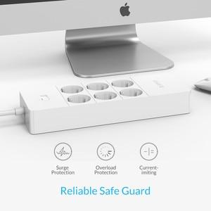 Image 3 - ORICO מפצל חשמל חכם נייד טעינה 4/6/8 חנויות עם 5 2.4 40W USB מטען יציאות גל הגנה עם 1.5m כבל חשמל