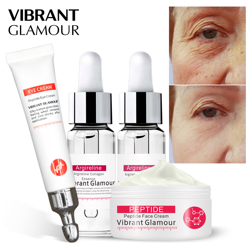 VIBRANT GLAMOUR  Face Cream  Peptide Collagen Face Serum Eye Serum Eye Cream Set Anti Aging Remover Dark Circles Whitening CareVIBRANT GLAMOUR  Face Cream  Peptide Collagen Face Serum Eye Serum Eye Cream Set Anti Aging Remover Dark Circles Whitening Care