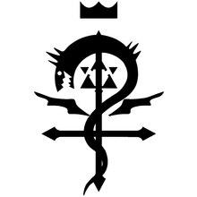 CS-782#15*22.4cm Fullmetal Alchemist funny car sticker vinyl decal silver/black for auto stickers styling decoration