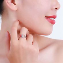 Strieborný prsteň SRDCE kryštál & topás 2farby Silver Ring HEART 2colors