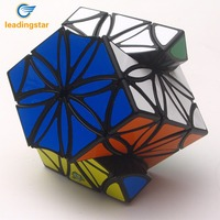 LeadingStar Petal Shaped Magic Cube With Sticker Brain Teaser Skewb Cube Puzzle Toy For Beginners Gifts