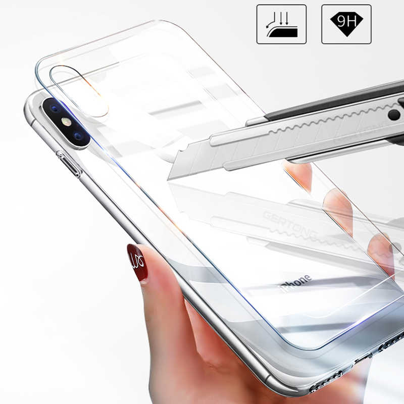 زجاج واقي على ل فون XS ماكس XR X 8 7 6 S 6 S زائد X 10 5 5 S SE 4 4 S واقي للشاشة الجبهة و عودة الزجاج المقسى