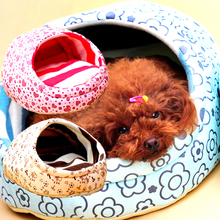 Hot Sell Dog Warm Bed Slipper Style Doghouse Cute Pet House Pet Bed Free Shipping  FG