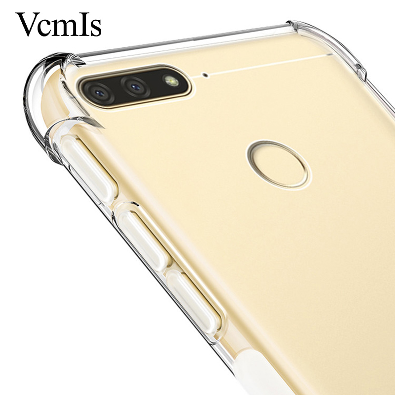 Russian version Clear crystal <font><b>silicone</b></font> <font><b>case</b></font> For <font><b>Huawei</b></font> honor 7s 7A 7C <font><b>Y6</b></font> Y7 Pro Prime <font><b>2018</b></font> transparent Shockproof coque cover image