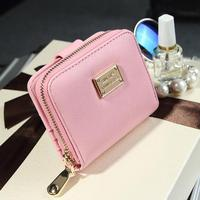 Women Short Wallets PU Leather Female Plaid Purses Nubuck Card Holder Wallet Fashion Woman Small Zipper