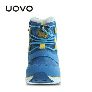 Image 4 - Зимние ботинки UOVO для мальчиков, теплые водонепроницаемые ботинки для мальчиков, Размер 23 # 30 #, 2019