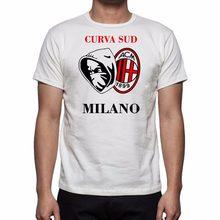 2019 nova moda t-shirts felicidade regalo sporter ultras milan curva sud camisetas moletom