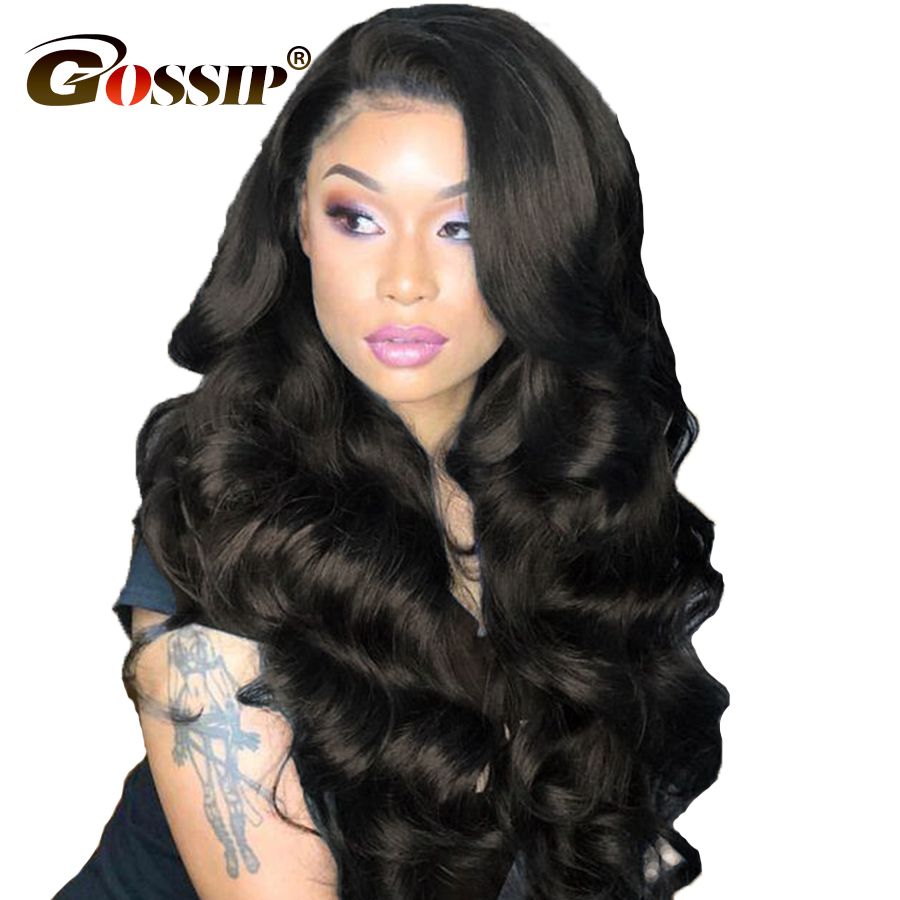 Brazilian Body Wave 360 Lace Frontal Wig Pre Plucked With Baby Hair Gossip Remy Hair 360 Lace Frontal Human Hair Wigs For Women