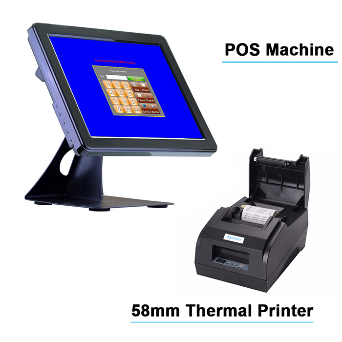 Free POS Software 15 inch Touch Screen POS System Cash Register With Free  Software For Restaurant Or Retail Store