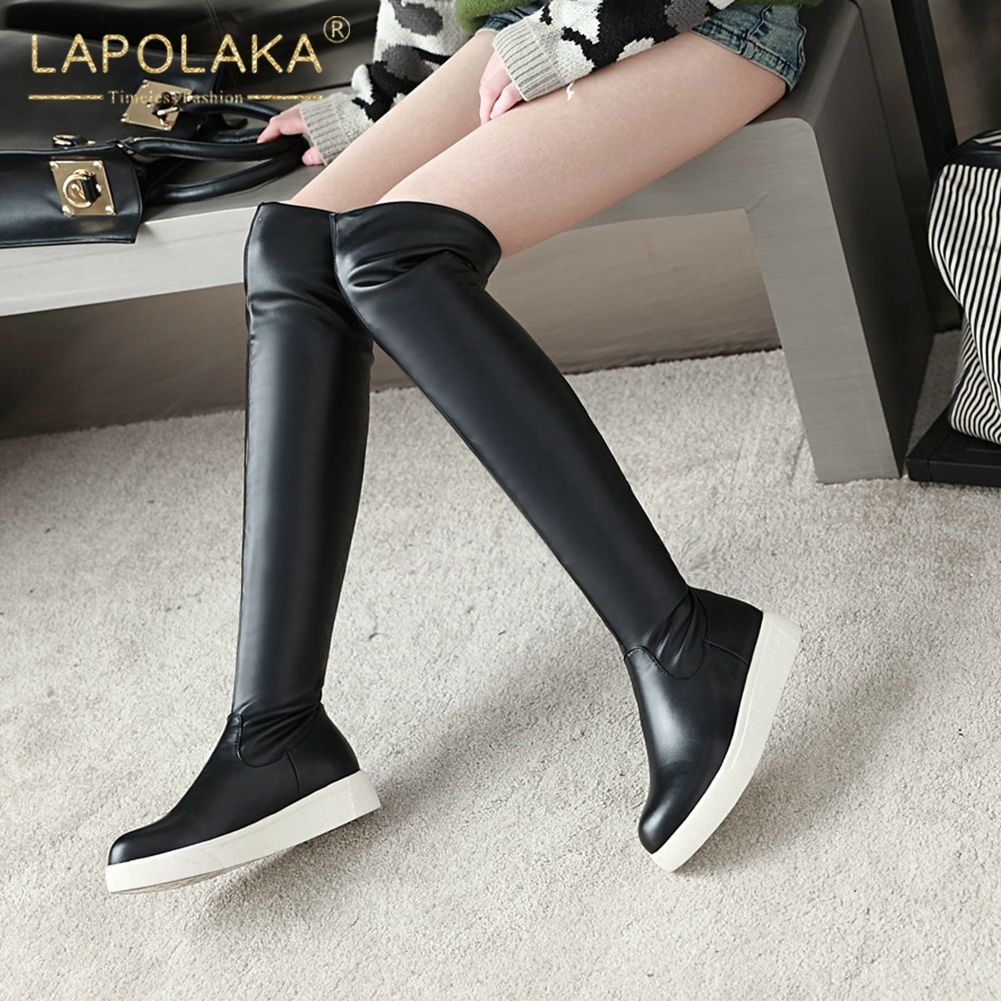 Lapolaka Hot Sale Large Size 34-43 Wholesale Slip On over-the-knee Boots Woman Shoes Add Fur Shoes Woman Winter Boots FemaleLapolaka Hot Sale Large Size 34-43 Wholesale Slip On over-the-knee Boots Woman Shoes Add Fur Shoes Woman Winter Boots Female