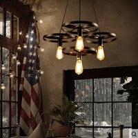 LOFT ретро 4 головки E27 подвесные светильники гостиная столовая спальня бар кафетерий дизайнер колеса подвесной светильник za920549