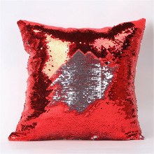 Vida cómoda 1 unid Nueva Calificado Doble Color Glitter Lentejuelas Throw Pillow Case Home wholeasle A10 envío gratis