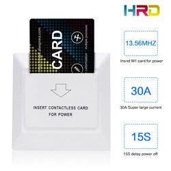 Cor branca design especial para hotéis de luxo rfid f08 s50 cartão de inserção do sistema de cartão para tomar economia de energia 15s atraso