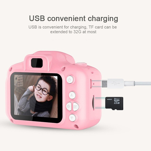 Photography DC500 Full Color Mini Camera for Children Kids Cute Camcorder Video Child Cam Recorder Digital Camcorders Blue/Pink Karachi