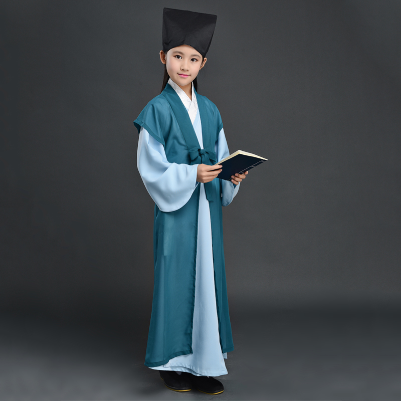 Children's Costumes  New Style This Hanfu Book Children's Costumes Show Clothing Boys Three-character Performance Clothing