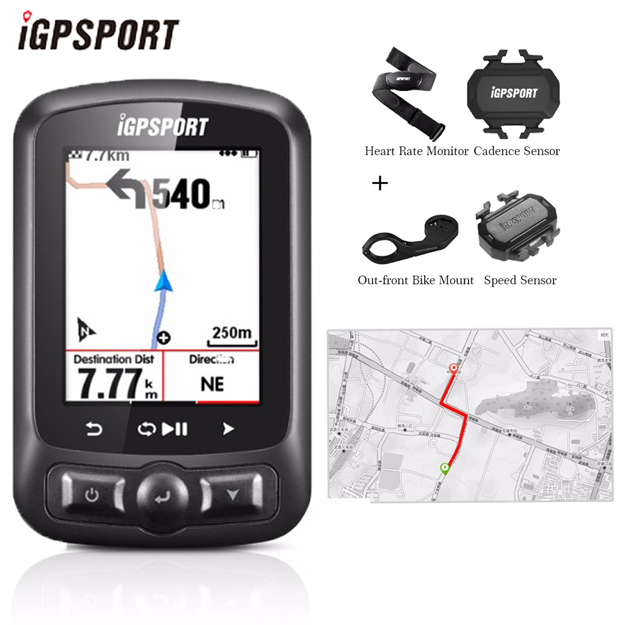 IGPSPORT IGS618 ordinateur de vélo GPS ANT + Bluetooth Sans Fil Rétro-Éclairage WaterproofIPX7 compteur vélo Vélo chronomètre numérique