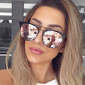 Men Luxury Brand Sunglasses Round Couple Or Sunglasses Women 2016 Cateye Sun Glasses Female Lunette Femme Sunglases Rose Gold