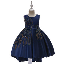 Navy 2019 Flower Girl Dresses For Weddings Ball Gown Short Sleeves Tulle Bow Lace First Communion Dresses For Little Girls white lace pink tulle ball gown flower girls dresses for weddings tulle lace formal kids wear for party communion dress