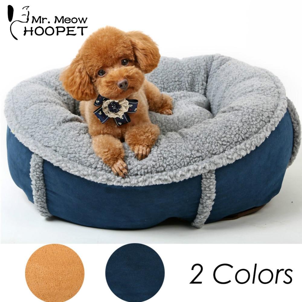 Hoopet lavable chaud doux Pet chien chat chien lit avec Double face coussin Pet House Pet sac de couchage