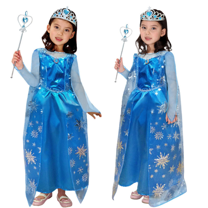 Halloween Festival Outfit Ideas.Us 17 81 30 Off Free Shipping Kids Girls Elsa Costumes Dairy Queen Cosplay Clothes Children Halloween Christmas Masquerade Princess Fancy Dress In