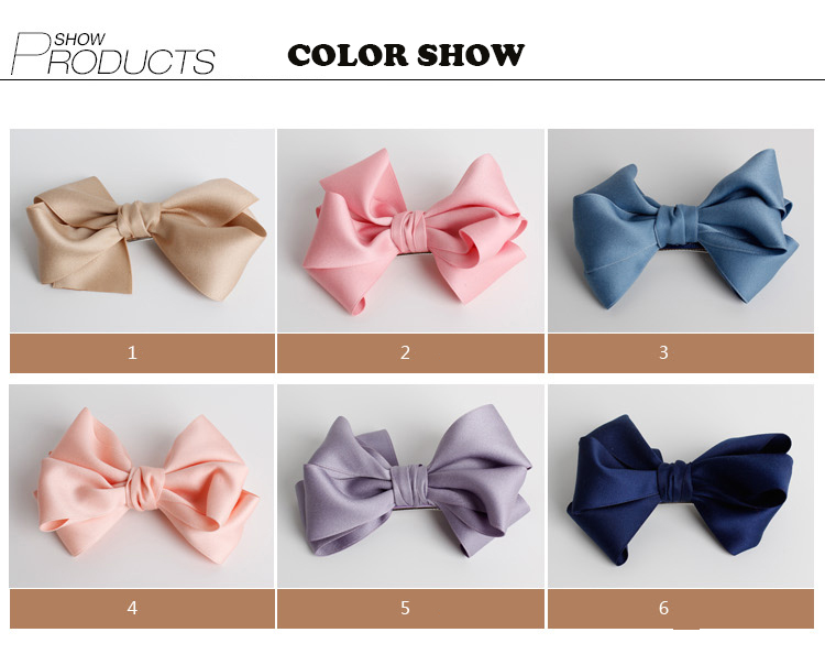 #MD61102 1 PCS Fashion Solid Ribbon Hair Bow For Baby Kids Girls Handmade Hair Accessories With Clip Headwear Hairgrips