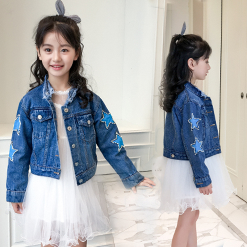 Spring 2019 Jeans Jacket Girls Kids Clothes Girls Coats And
