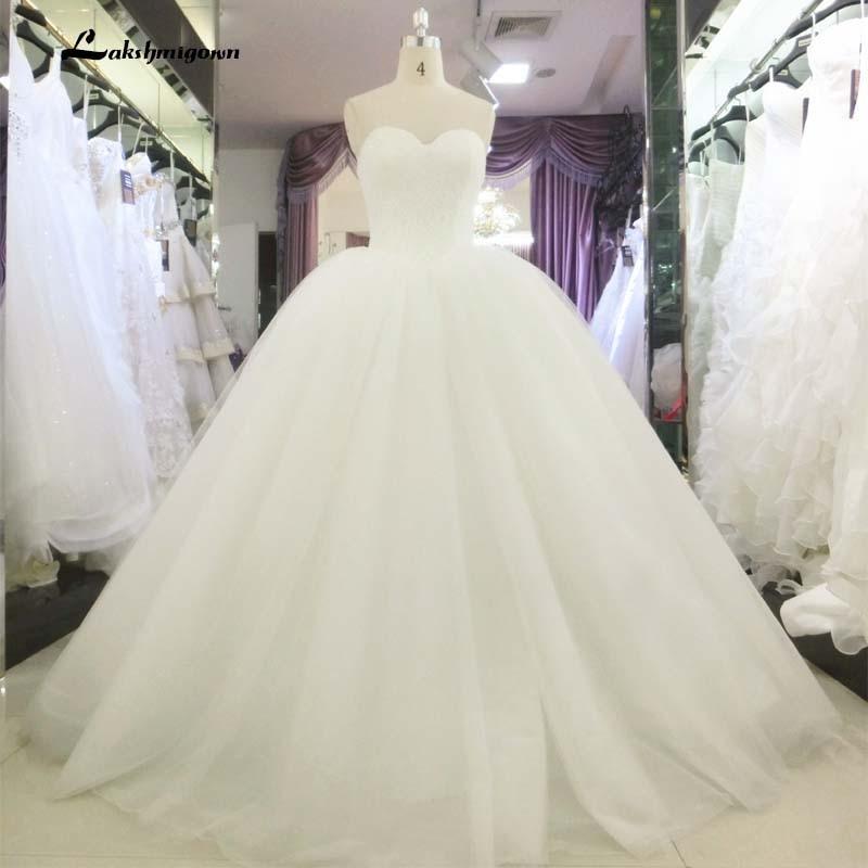 Abiti Da Sposa Hot.Robe De Marriage White Tulle Sweetheart Wedding Dresses 2019