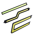 2 Pcs LED DRL Luzes Diurnas Carro Z Forma de U em linha reta De Nevoeiro Automóvel Lâmpadas-Car styling Fonte de Luz DC 12 V LEVOU Bar
