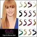 Cinta estupenda Para la Cinta En Extensiones Del Pelo 50G/20 Unids Cinta Extensiones de 24 Pulgadas Color Mezclado Humano 100% Cinta En Extensiones de cabello