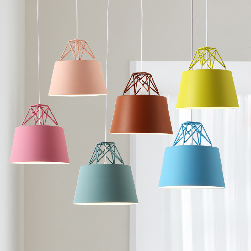 Northern Europe Modern Concise Creative Danish Macaron Pendant Lamp Cafe Restaurant Bedroom Parlor Decoration Lamp Free Shipping northern europe creative style vintage rectangle crystal pendant light parlor light dining room decoration lamp free shipping