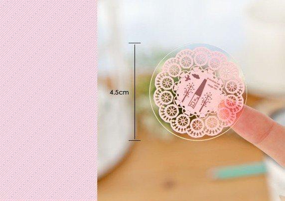 Купить с кэшбэком 1pack/lot Sweet Cute Lace Waterproof PVC Stickers DIY Product Gift Multifunction Decoration Label Seal Sticker Store Supplies