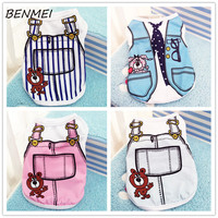 BENMEI Dog Clothes Spring/Summer Small Dog Clothes Chihuahua Clothing T shirt Pet Vest Puppy Lattice Printed Popa Para Perros