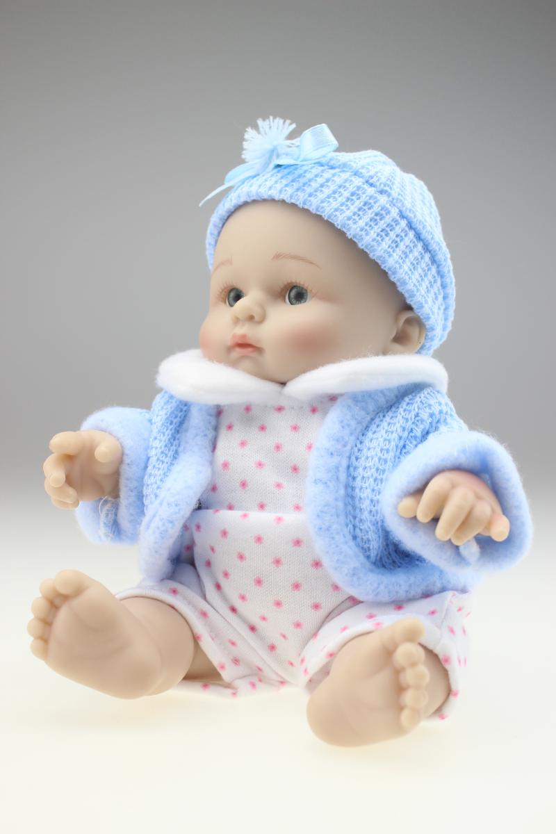New 25cm Mini Toy Simulation Doll Baby Silicone Doll Baby Shower New 25cm  Mini Toy Simulation