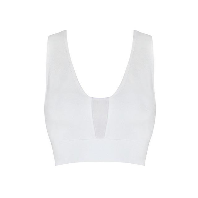Envío Gratis Womans Sexy Nuevo 2016 Blanco Vendaje Crop Tops 4 Colores Disponibles