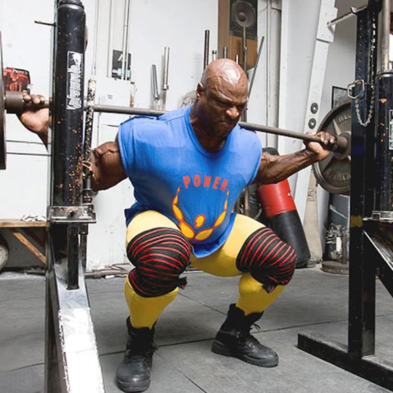 Prix pour 2 Pcs/lot 180*8 CM Poids De Levage Squat Élastique Genou Bandages Jambe Compression Calf Soutien Wraps Sport Squats Formation protecteur