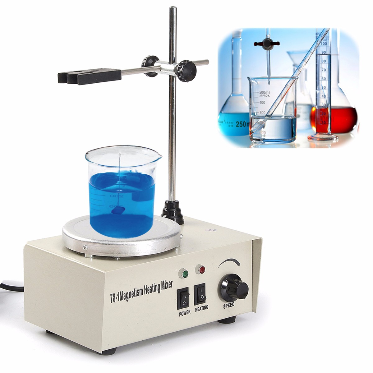 KiCute 1Set Laboratory Chemistry Magnetic Stirrer Magnetic Stirrer Home Laboratory Magnetic Mixer Stirrers Apparatus 220V 50HZ kicute new laboratory chemistry magnetic stirrer magnetic stirrer home laboratory magnetic mixer stirrers apparatus ac100 240v