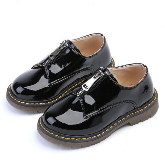 NEW Spring/Autumn Children Leather Shoes Boys Girls Casual Sneakers Baby Anti-Slippery Flats High Quality Kids Shoes 03