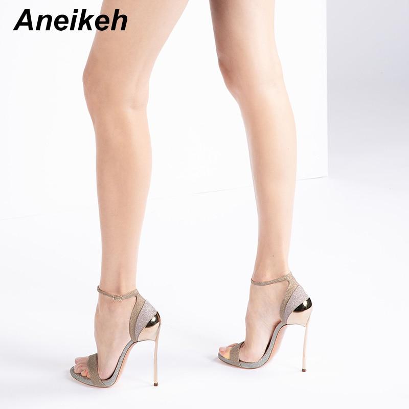 Aneikeh Fashion Bling Women Heeled