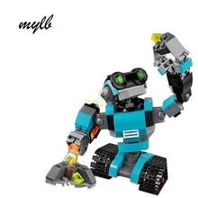 mylb New 205Pcs Creative Series The three in one Explorer Robot Set 31062 Children Educational Building Bricks Blocks