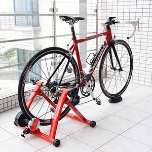 """Image 1 - Rollers para treinamento de ciclismo, treinador para bicicleta, exercícios internos, resistências magnéticas de 26 28 """", estação de fitness, treinador de bicicleta"""