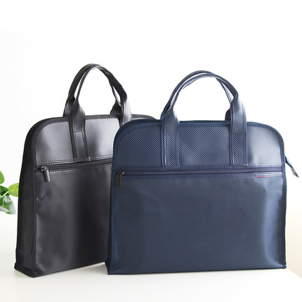 Fashion Business Document Bag Waterproof Leather Folder A4 File Bag Document Briefcase