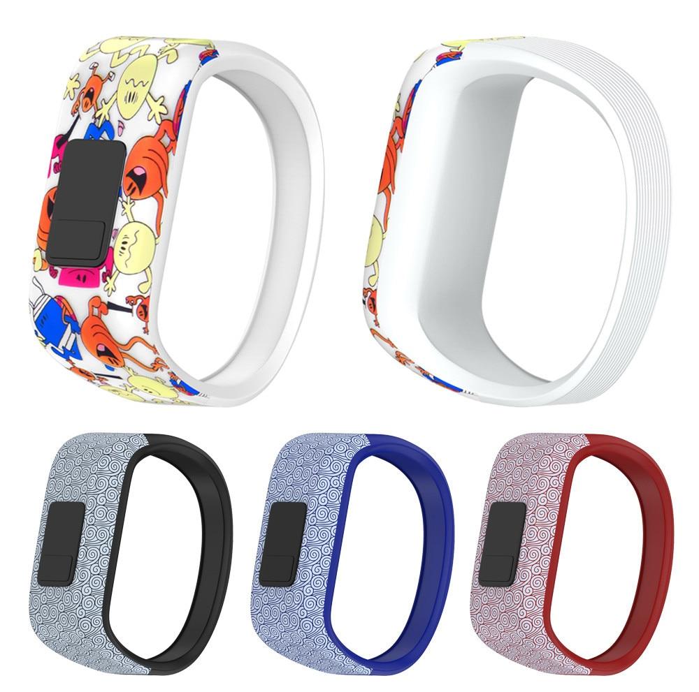 2018 New Design Large Replacement Wrist Band Silicon Strap Clasp For Garmin vivofit JR Watch pulseira inteligentedrop shopping